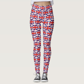 British Union Jack UK flag pattern yoga or workout Leggings