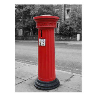 British Victorian Pillar Box Postcard