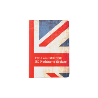 British vintage flag style named passport cover