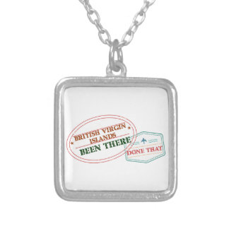 British Virgin Islands Been There Done That Silver Plated Necklace