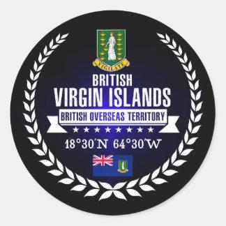 British Virgin Islands Classic Round Sticker