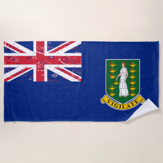 British Virgin Islands Flag Beach Towel