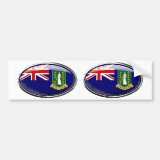 British Virgin Islands Flag Glass Oval Bumper Sticker