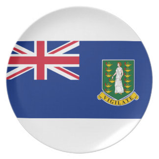 British Virgin Islands Flag Plate