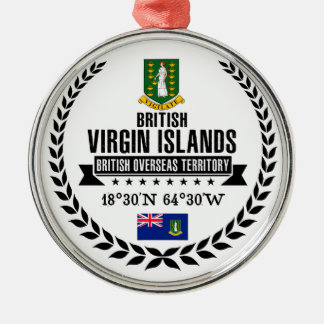 British Virgin Islands Metal Ornament