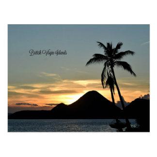 British Virgin Islands, Sunset Postcard