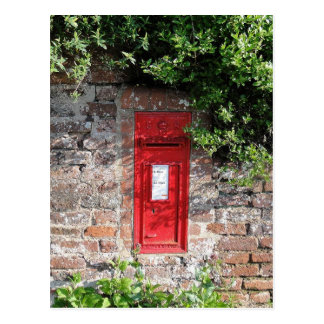 British wall letter box postcard