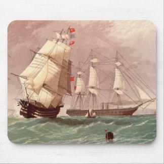British warship HMS Warrior Mouse Pad