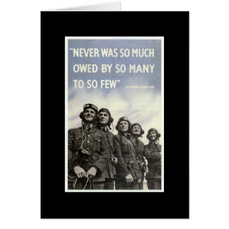 British World War 2 Quotation Patriotic Military Card