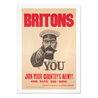 Britons Lord Kitchener Wants You WWI Propaganda Magnetic Card