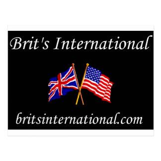 Brits International in Black Postcard