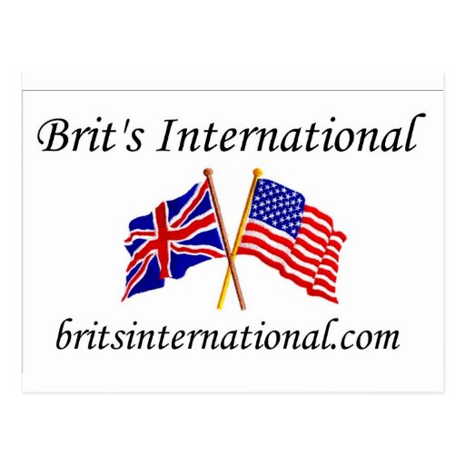 Brits International in White Postcard