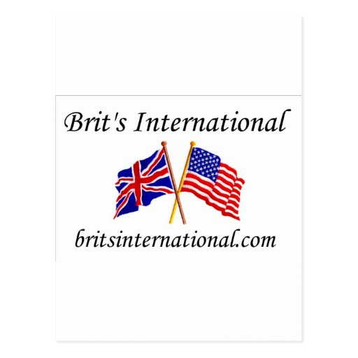 Brits International in White Postcards