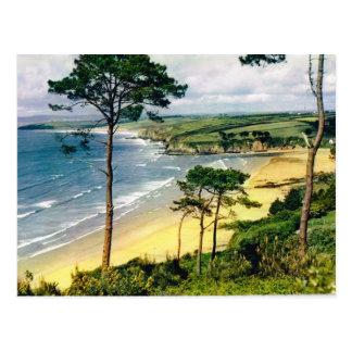 Brittany, coastline postcard