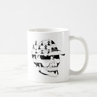 Brittany death's head coffee mug