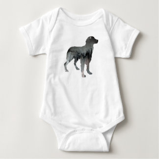 Brittany Dog Art Baby Bodysuit