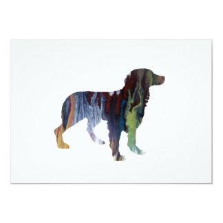 Brittany Dog Art Card