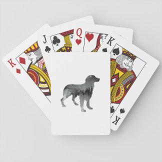Brittany Dog Art Poker Deck