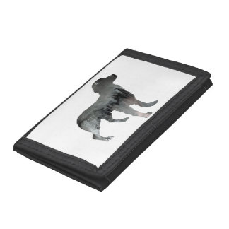Brittany Dog Art Tri-fold Wallets