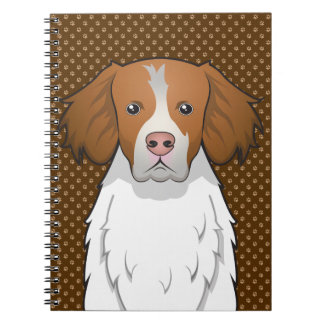 Brittany Dog Cartoon Paws Notebook