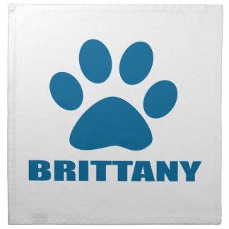 BRITTANY DOG DESIGNS NAPKIN