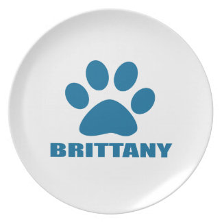 BRITTANY DOG DESIGNS PLATE