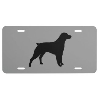 Brittany Dog Silhouette License Plate