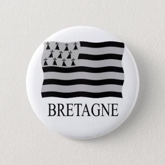 Brittany flag 2 inch round button