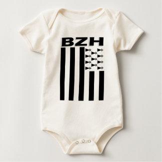 Brittany flag baby bodysuit
