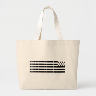 Brittany flag large tote bag