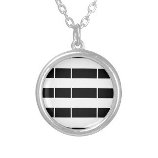 Brittany flag silver plated necklace