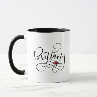 Brittany, hand lettered mug