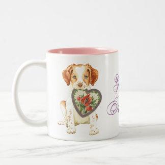 Brittany Heart Mom Two-Tone Coffee Mug