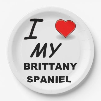 brittany love paper plate