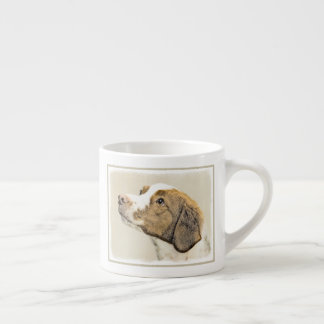 Brittany Painting - Cute Original Dog Art Espresso Cup