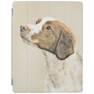 Brittany Painting - Cute Original Dog Art iPad Cover