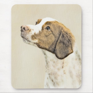 Brittany Painting - Cute Original Dog Art Mouse Pad