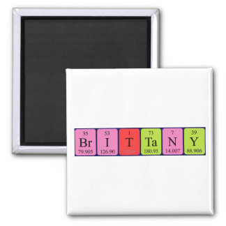 Brittany periodic table name magnet