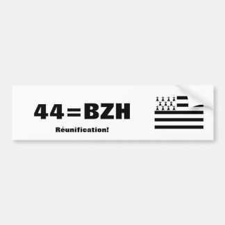 Brittany Reunification bumper sticker