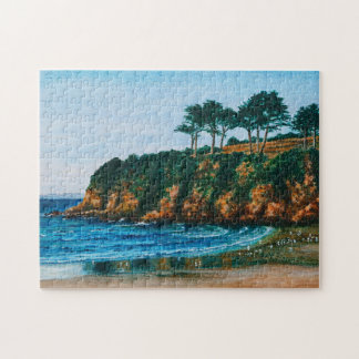 Brittany Rocky Coast Acrylic Painting, Game 11x14 Puzzle