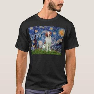 Brittany Spaniel 3 - Starry Night T-Shirt