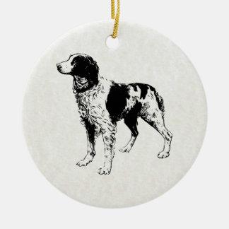 brittany spaniel ceramic ornament