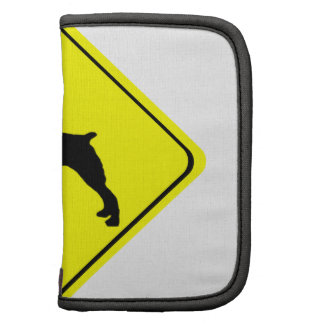 Brittany Spaniel Dog Caution or Crossing Sign Organizers
