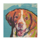 Brittany spaniel Dog fun bright pop art
