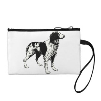 brittany spaniel drawing change purses