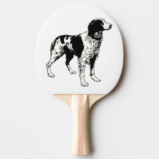 brittany spaniel drawing ping pong paddle