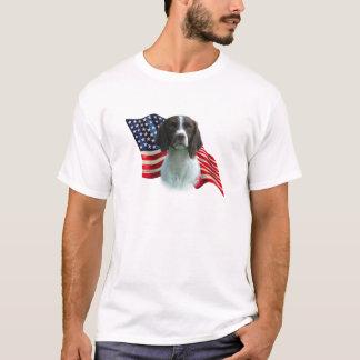 Brittany Spaniel Flag T-Shirt