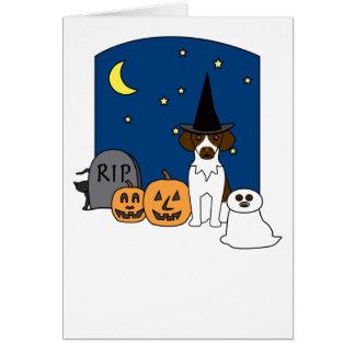 Brittany Spaniel Halloween Card