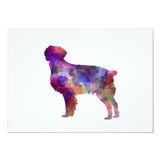 Brittany Spaniel in watercolor Card