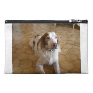 brittany spaniel laying travel accessory bag